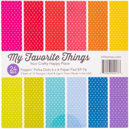 My Favorite Things 6x6 Paper Pad: Poppin' Polka Dots