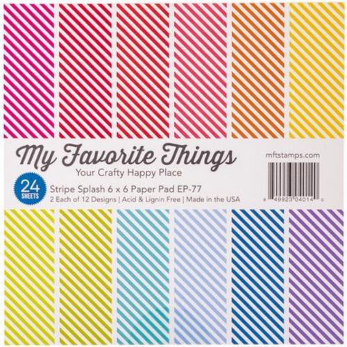 My Favorite Things 6x6 Paper Pad: Stripe Splash