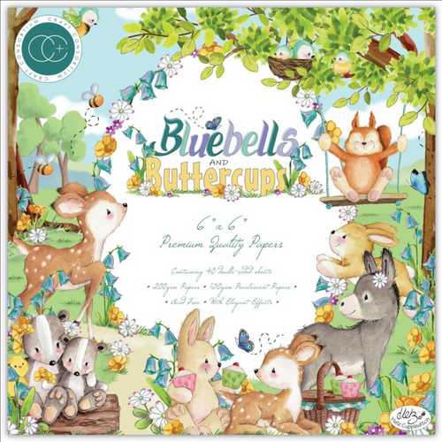 Craft Consortium 6x6 Paper Pad: Bluebells and Buttercups