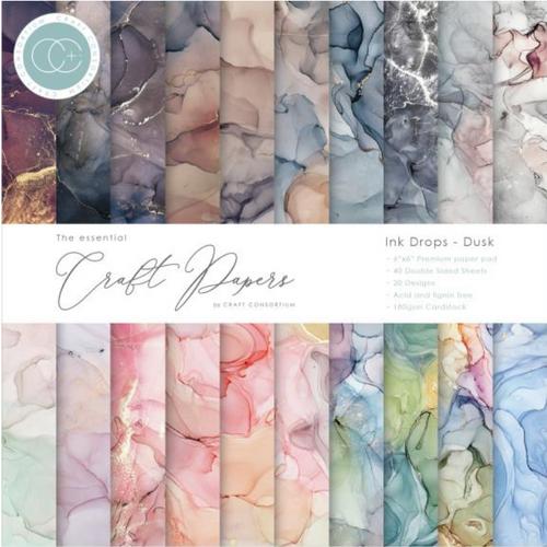 Craft Consortium 6x6 Paper Pad: Ink Drops - Dusk