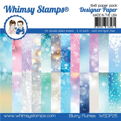 Whimsy Stamps 6x6 Paper Pad: Blurry Flurries