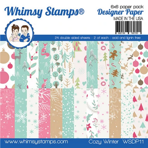 Whimsy Stamps 6x6 Paper Pad: Cozy Winter