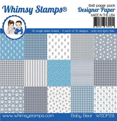 Whimsy Stamps 6x6 Paper Pad: Baby Bear