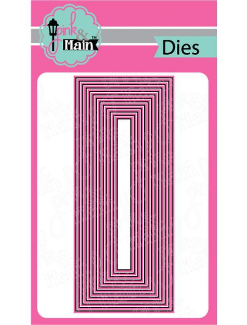 Pink & Main Slim Line Metal Dies: Layered