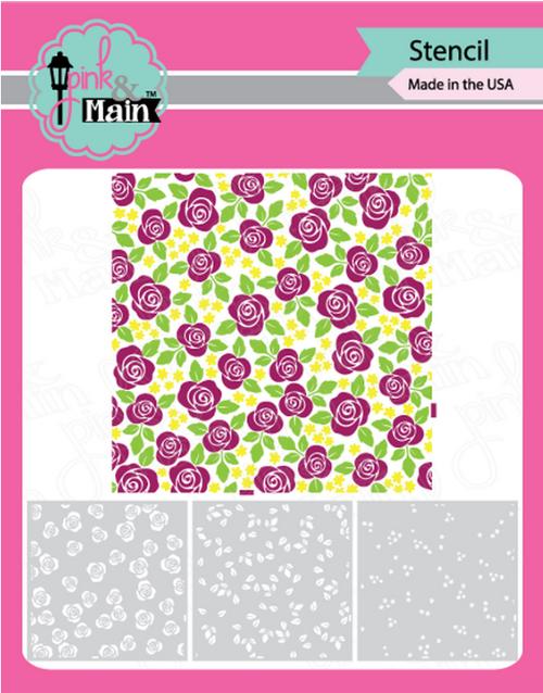 Pink & Main Layering Stencils (set of 3): Rose Garden