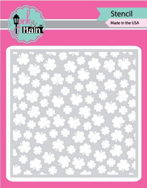 Pink & Main 6x6 Stencil: Clover