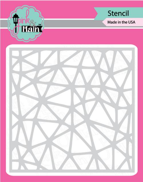 Pink & Main 6x6 Stencil: Cracked