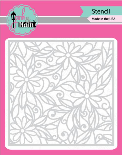 Pink & Main 6x6 Stencil: Daisies