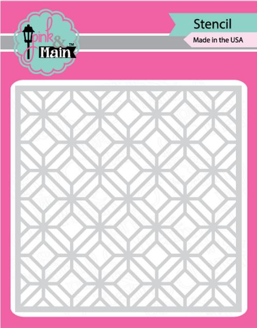 Pink & Main 6x6 Stencil: Garden Gate
