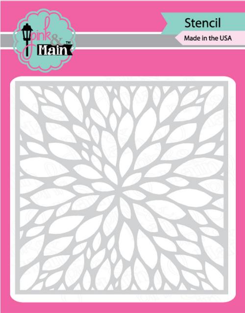 Pink & Main 6x6 Stencil: Petals
