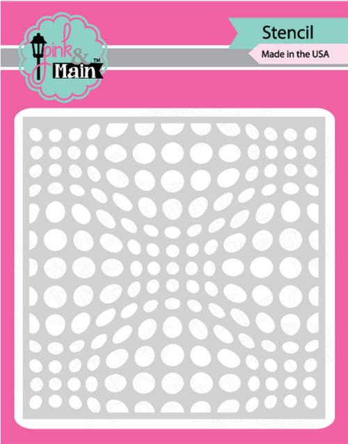 Pink & Main 6x6 Stencil: Warped