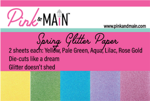 Pink & Main 6x6 Paper Pad: Glitter - Spring