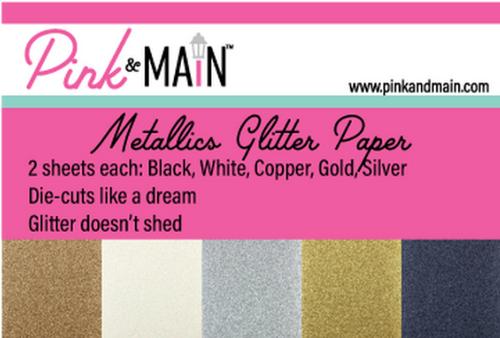 Pink & Main 6x6 Paper Pad: Glitter - Metallics