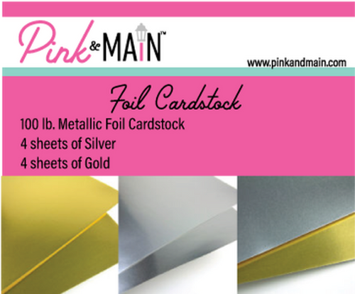 Pink & Main 6x6 Paper Pad: Foil - Gold & Silver