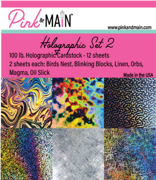 Pink & Main 6x6 Paper Pad: Holographic - Set 2