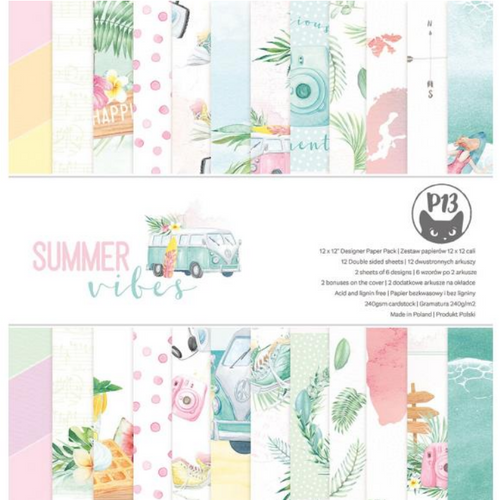 P13 12x12 Paper Pad: Summer Vibes