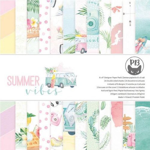 P13 6x6 Paper Pad: Summer Vibes