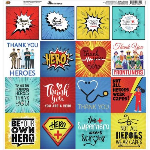Reminisce 12x12 Poster Sticker: Hero