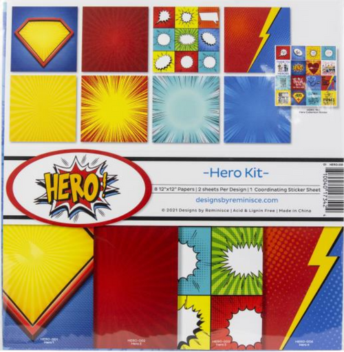 Reminisce 12x12 Collection Pack: Hero