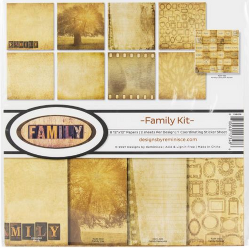 Reminisce 12x12 Collection Pack: Family