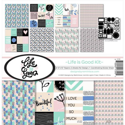 Reminisce 12x12 Collection Pack: Life is Good