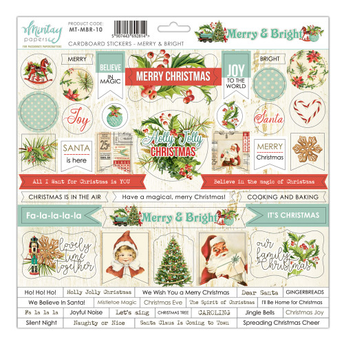 Mintay Papers Merry & Bright 12x12 Sticker