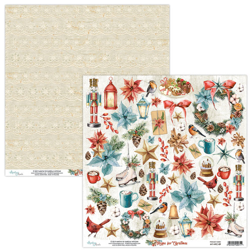 Mintay Papers 12x12 Paper: Home for Christmas - Elements