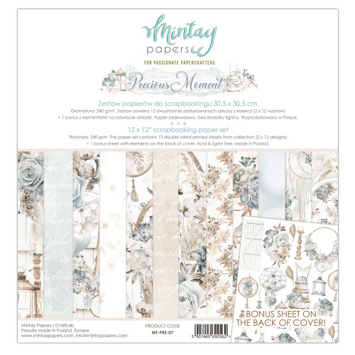 Mintay Papers Precious Moment 12x12 Paper Kit