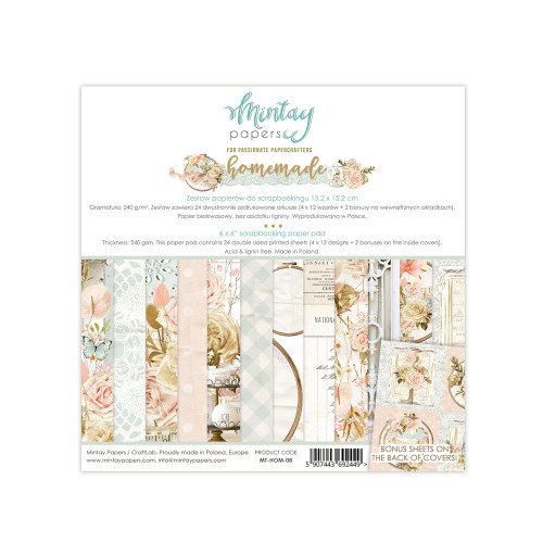 Mintay Papers 6x6 Paper Pad: Homemade