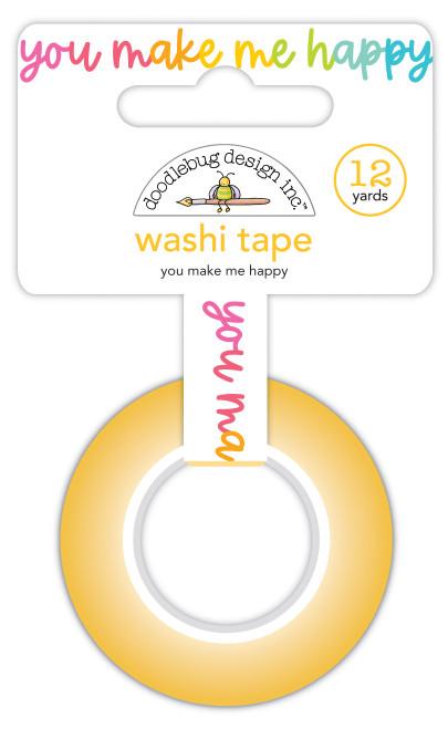 Doodlebug Cute & Crafty Washi Tape: You Make Me Happy