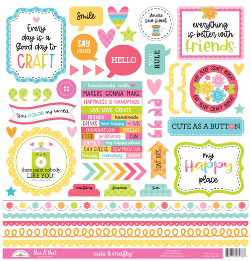 Doodlebug Cute & Crafty Stickers: This & That