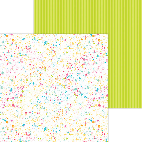 Doodlebug Cute & Crafty 12x12 Paper: Colorful Canvas