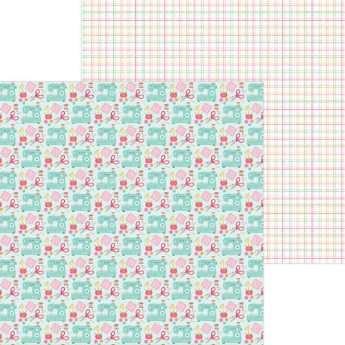 Doodlebug Cute & Crafty 12x12 Paper: Sew Cute