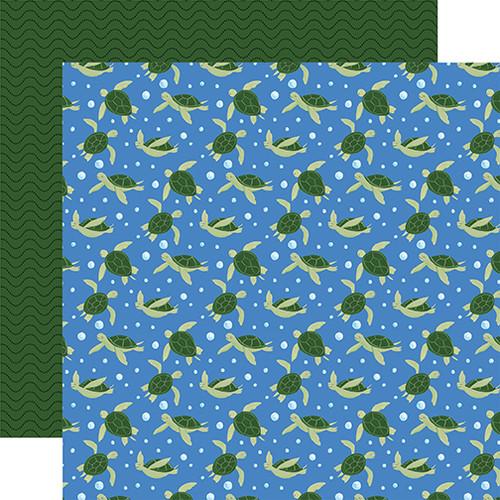 Echo Park Under Sea Adventures 12x12 Paper: Twirling Turtles