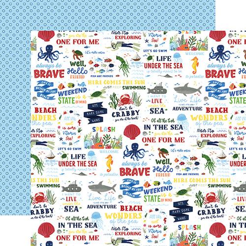 Echo Park Under Sea Adventures 12x12 Paper: Vitamin Sea