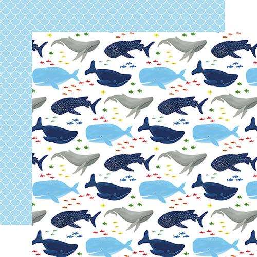 Echo Park Under Sea Adventures 12x12 Paper: Whale Hello