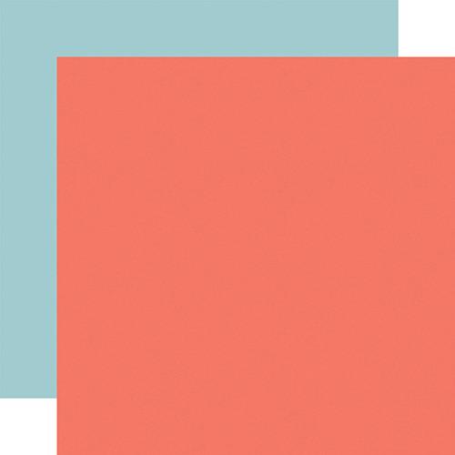 Carta Bella Craft & Create 12x12 Paper: Dk. Pink / Lt. Blue (Coordinating Solid)