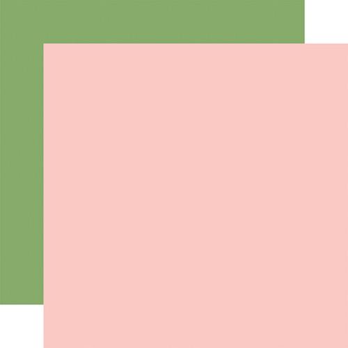Carta Bella Craft & Create 12x12 Paper: Lt. Pink / Green (Coordinating Solid)