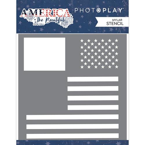 PhotoPlay America the Beautiful 6x6 Stencil: Flag