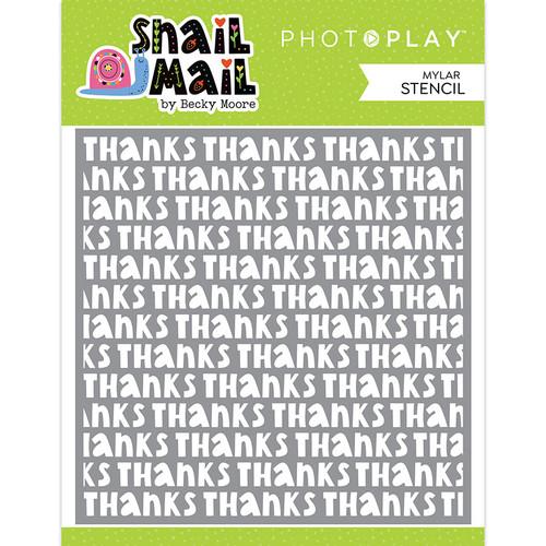 PhotoPlay Snail Mail 6x6 Stencil