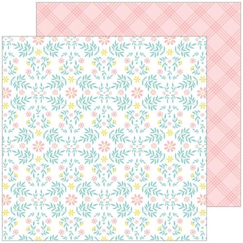 Pinkfresh Studio Happy Blooms 12x12 Paper: Cottage