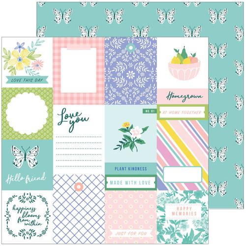 Pinkfresh Studio Happy Blooms 12x12 Paper: Homegrown