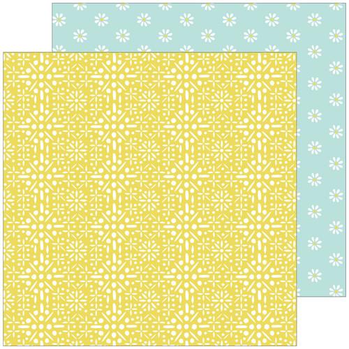 Pinkfresh Studio Happy Blooms 12x12 Paper: Memories