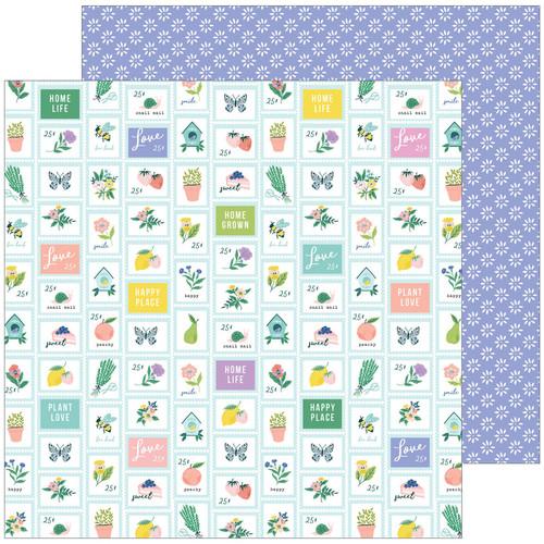 Pinkfresh Studio Happy Blooms 12x12 Paper: Garden