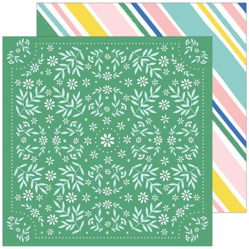 Pinkfresh Studio Happy Blooms 12x12 Paper: Handkerchief