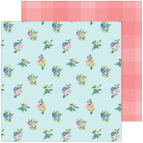 Pinkfresh Studio Happy Blooms 12x12 Paper: Flower Patch