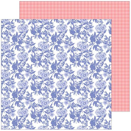 Pinkfresh Studio Happy Blooms 12x12 Paper: Daydream