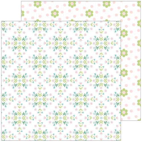 Pinkfresh Studio Happy Blooms 12x12 Paper: Together