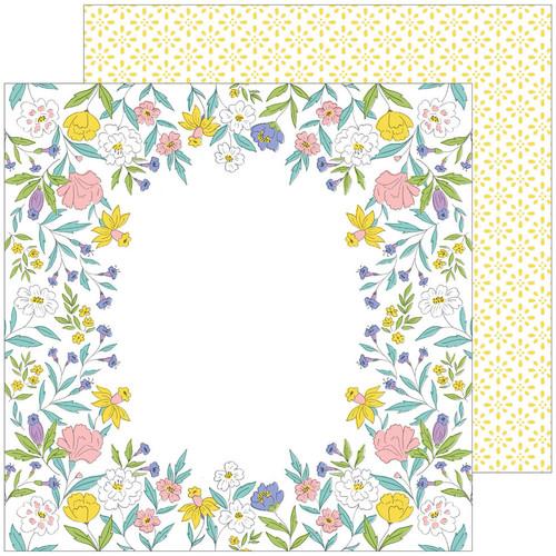 Pinkfresh Studio Happy Blooms 12x12 Paper: Heirloom