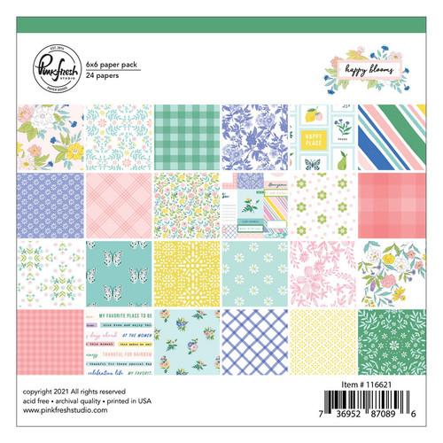 Pinkfresh Studio Happy Blooms 6x6 Paper Pack